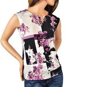 NWT Calvin Klein Floral Printed Blouse  M, XL